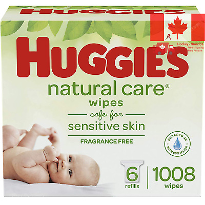 Huggies Natural Care Unscented Baby Wipes Sensitive 6 Refill Packs 1008 Wipes