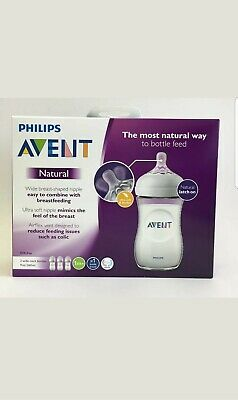 PHILIPS Avent 3 Pack 9oz Natural BPA free Baby Bottles - SCF013/37 *NEW*