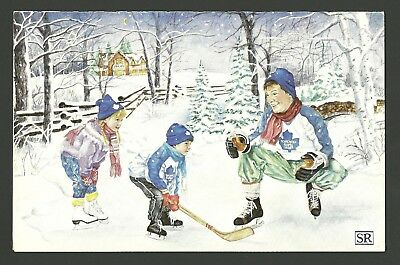 Toronto Maple Leafs 1988-89 Team Hockey Christmas Card Wendel Clark Allan Bester