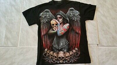 Spiral Direct SALE Day Of The Dead Senorita T-Shirt Size MEDIUM Gothic Punk