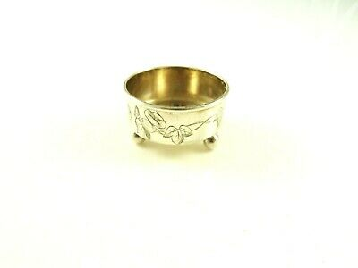 Antique Sterling Silver Salt Cellar By Tiffany & Co Ivy And Vine