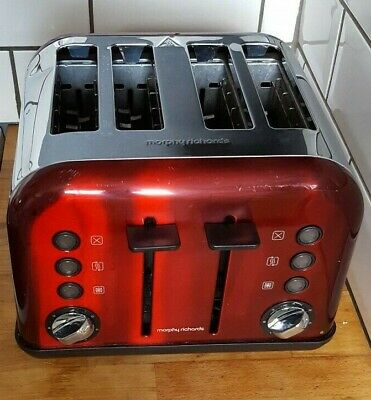 Morphy Richards Accents 4 Slice Toaster  242030 Red