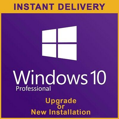 Windows 10 Pro 32/64 bit Upgrade Home to Pro key - Retail key - Instant Delivery