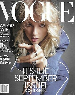 Vogue Magazine Taylor Swift Radical Fashion Chic Tom Ford Floral Style 2019