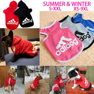 Summer Vest Pet Coat Dog Warm Clothing Casual Cat Puppy Hoodie Sweater adidog