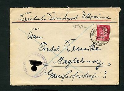 Official Mail Ukraine - No. 8 Ef by the 28.9.1942 (JK-39)