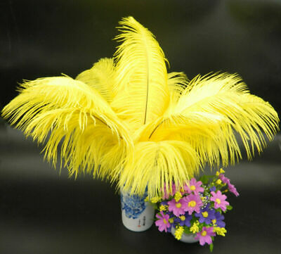 5pcs 30-35mm Large Real Ostrich Feathers Wedding Birthday Party Decorations
