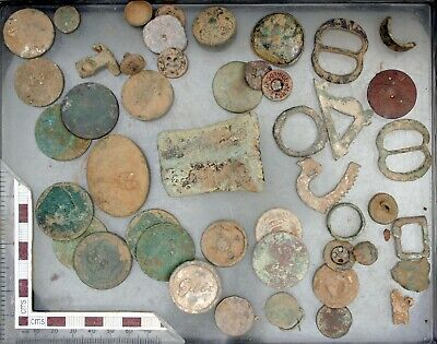 Mixed Bulk Lot of English Metal Detecting Finds – Antique, Vintage & Modern
