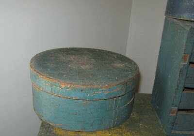 The Best Antique Large Pantry Box The Best Old Blue Paint Extraordinary Aafa Nr