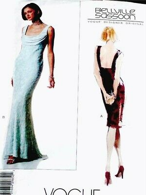 NEW VOGUE SEXY BELLVILLE SASSOON EVEING GOWN, DRESS Sewing Pattern 2290 14 16 18