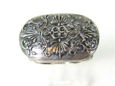 Vintage Sterling Silver Art Nouveau Scroll Ladies Ring 15.2g
