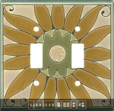 Golden Sunflower Ceramic Switch Plates, Wall Plates & Outlet Covers