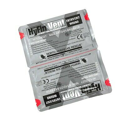 Twin Pack North American Rescue Hyfin Vent Wound Chest Seal, NAR Medical USGI