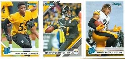 2019 Donruss Pittsburgh Steelers W/Sp Rated Rookies ( 10 Cards )