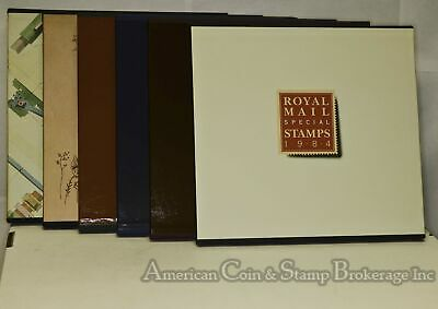 Great Britain 1984-89 Special Stamps hard cover books & dust covers 6 sets