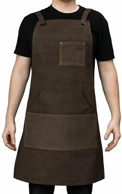 First Manufacturing Suede Leather Welding Apron - Brown