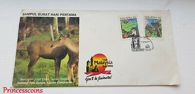 Malaysia National Park Golden Jubilee Celebration Dec 28 1989 First Day Cover