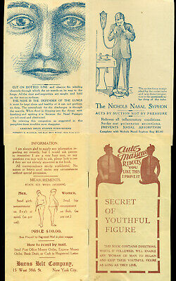 1900 to 1916 LOT of  advertising for QUACK Medical devices and equipment