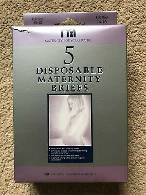 BNIB Mothercare 5 Disposable Maternity Briefs - size 14-16
