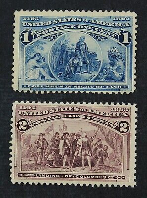 CKStamps: US Stamps Collection Scott#230 Mint LH OG, #231 Mint NH OG