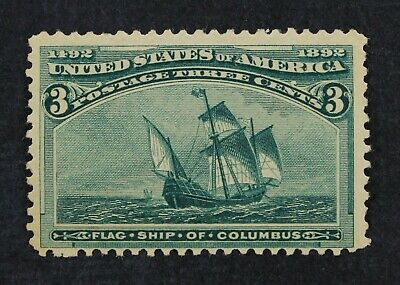 CKStamps: US Stamps Collection Scott#232 3c Columbian Mint NH OG CV$105