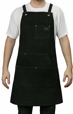First Manufacturing Suede Leather Welding Apron - Black