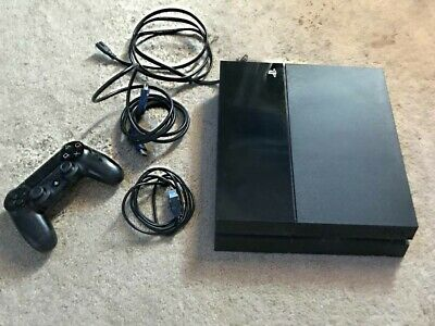 Sony Playstation 4 PS4 500GB Console complete  - Black TESTED READ ALL