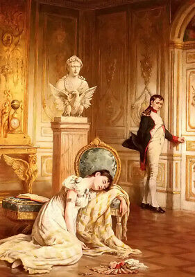 Dream-art Oil painting napoleons farewell to josephine portrait figures canvas