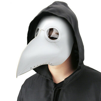 The Plague Doctor Bird Mask Halloween Cosplay Costume Gothic Long Nose Adults AU