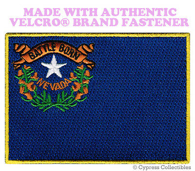 NEVADA STATE FLAG PATCH EMBROIDERED SYMBOL APPLIQUE w/ VELCRO® Brand Fastener