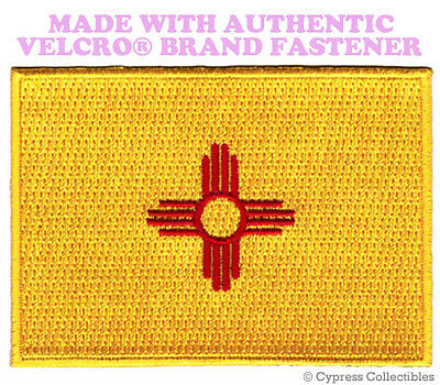 NEW MEXICO STATE FLAG PATCH NM EMBROIDERED APPLIQUE w/ VELCRO® Brand Fastener