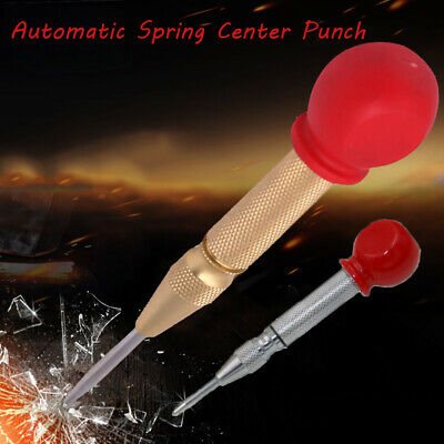 Automatic Center Pin Punch Spring Loaded Marking Hole Window Breaker Tool