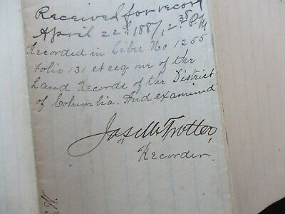 J.M.Trotter,2nd Afro-American ever Promoted to Lt.,Mass 55th,Inf/Signed Document