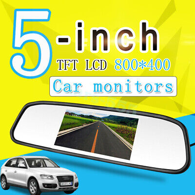 Hot 5'' TFT LCD 800*480 Car Rear View Mirror Monitor For Parking Reverse Camera