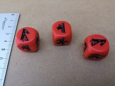 3 x SPECIAL DICES MINIATURE/ CONQUEST OF THE EMPIRE/EAGLE GAMES M39