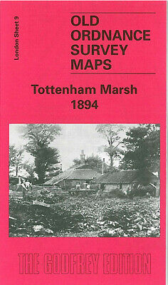 Old Ordnance Survey Map Tottenham Marsh 1894 Blackhorse Lane Higham Hill
