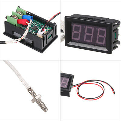 Industrial Digital Thermometer 12V Temperature Meter -30~800℃ Thermograph D1B9