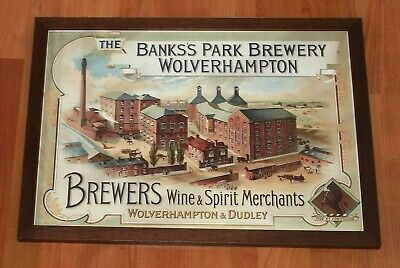 Superb Banks's Park Brewery Wolverhampton..pictorial Sign..repro.