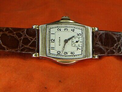 Cyma. Vintage, mechanical, hand wound wristwatch. Swiss Made. Deco 1930's.