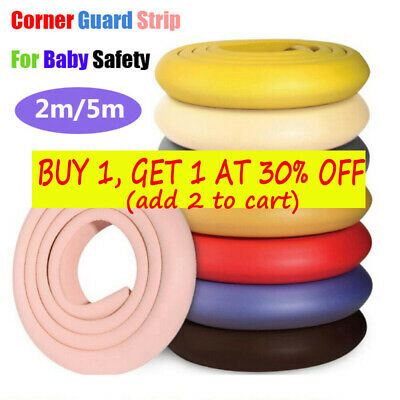 Baby Kids Safety Table Edge Guard Strip Protector Cushion Soft Bumper 2/5 Meter