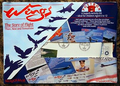GB 1986 Wings of Flight Complete Postbox Activity Pack with FDC SEE BELOW BF897