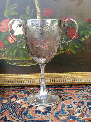 Pokal - versilbert - Sheffield um 1900 - Martin Hall & Co -