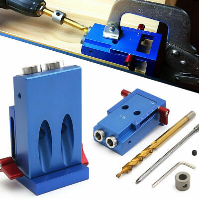 Pocket Hole Jig Step Drill Bit Kit Woodworking Carpentry For Kreg Joinery Tool
