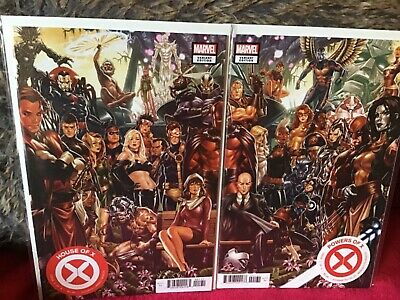 House Of X Powers Of X # 1 Brooks Connecting Variants Set Marvel Comics