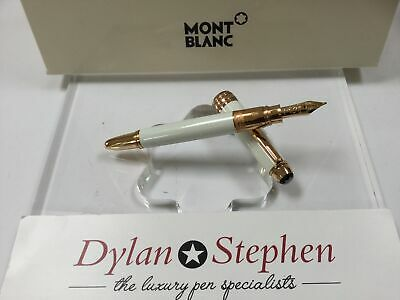 Montblanc meisterstuck solitaire tribute to montblanc white Mozart fountain pen