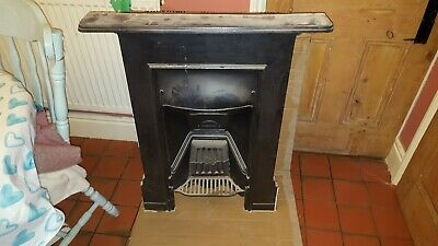 Original VICTORIAN CAST IRON BEDROOM FIREPLACE 24 by 36 inches
