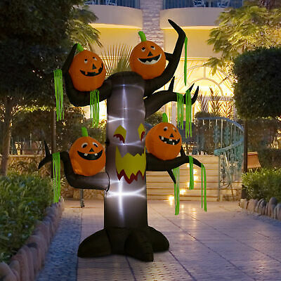 8ft Halloween Airblown Inflatable Haunted Pumpkins Tree Yard Outdoor Decorations