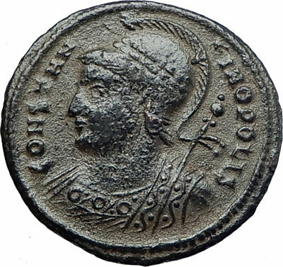 CONSTANTINE I the GREAT Founds Constantinople 330AD Ancient Roman Coin i80211