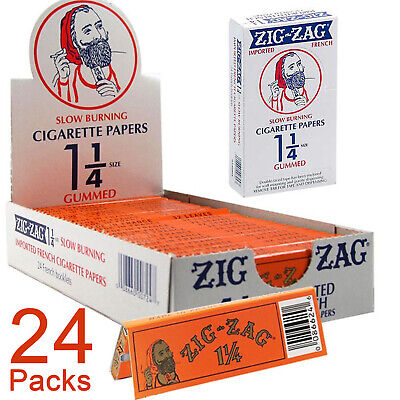 Zig-Zag Orange 1¼ Cigarette Rolling Papers (Full Box) 24x Booklets 32 Leaves