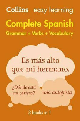 Easy Learning Spanish Complete Grammar, Verbs and Vocabulary (3... 9780008141738